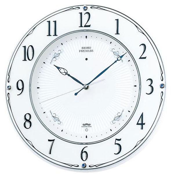 「20日21日限定ポイント5倍」壁掛け時計 セイコー SEIKO 電波時計 暗くなると秒針を止め 音のしない スイープ LS230W 文字入れ対応、有料 取り寄せ品