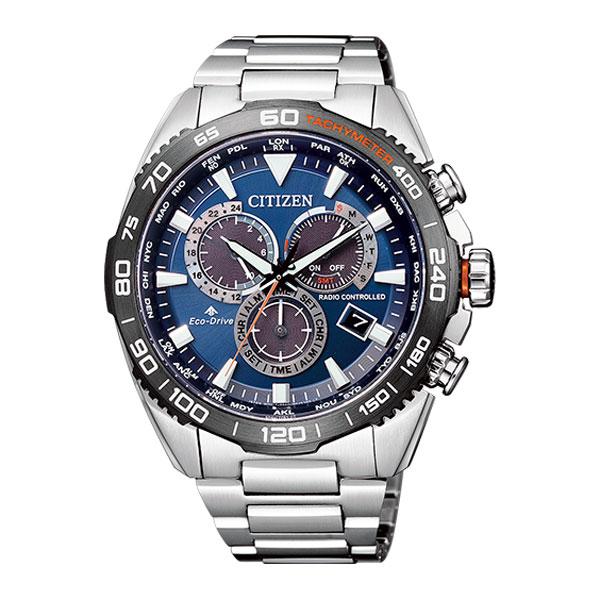 「マラソンポイント5倍」シチズン メンズ 腕時計 エコドライブ電波時計 20気圧防水 CB5034-82L CITIZEN プロマスター ブルー 時計 刻印対応、有料 取り寄せ品【ed7k】