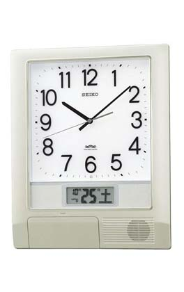 「スーパーセールポイント5倍」セイコー SEIKO 電波時計プログラムクロック掛け時計 PT201S 文字入れ不可 取り寄せ品