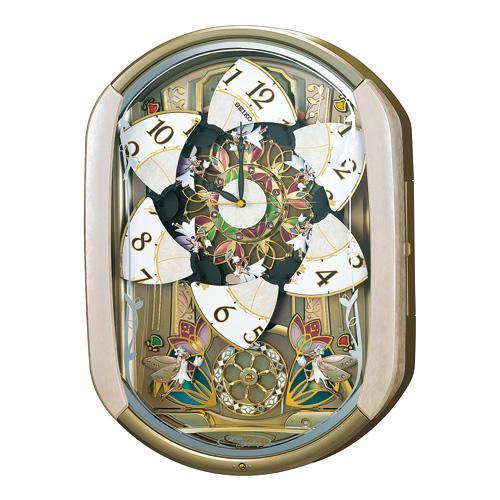 把精工机关钟表文字板分成6个方向的电波挂钟波交响乐RE567G文字放进去不可能的订购物品