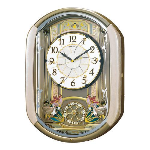 「スーパーセールポイント5倍」セイコー からくり時計 文字板が6つの方向に分かれる電波掛時計 ウェーブシンフォニー RE567G 文字入れ不可 取り寄せ品