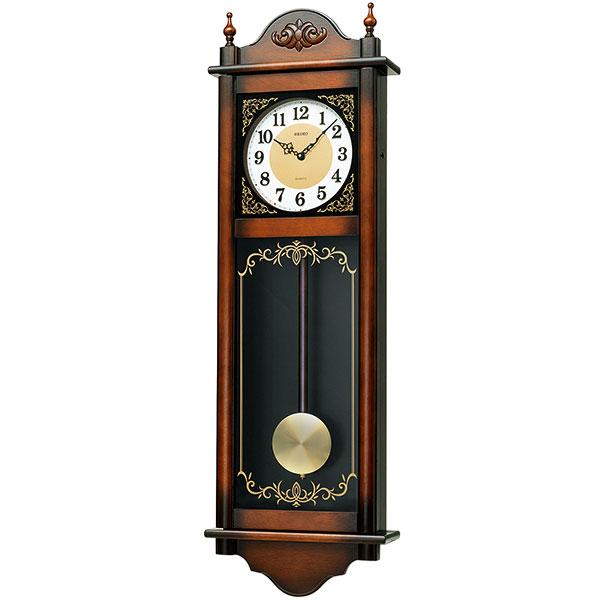 開店開業 新築のお祝いの贈り物 プレゼントにSEIKO壁掛け時計 木枠 柱時計 振り子 壁掛け 時計 ふりこ 文字入れ対応《有料》 最新号掲載アイテム 商舗 取り寄せ品 SEIKO チャイム 掛時計 木製 RQ307A