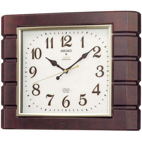 「スーパーセールポイント5倍」セイコーSEIKO 報時音つき電波時計 壁掛け時計 RX209B 文字入れ対応《有料》 取り寄せ品