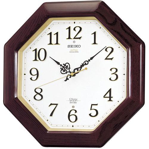 「20日21日限定ポイント5倍」セイコーSEIKO 報時音つき電波時計 壁掛け時計RX210B 文字入れ対応、有料 取り寄せ品