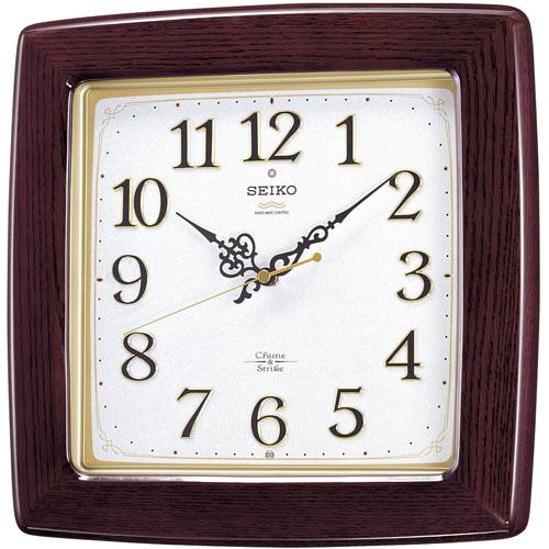 セイコーSEIKO 報時音つき電波時計 チャイム アンド ストライク CHIME&STRIKE 壁掛け時計 RX211B 取り寄せ品