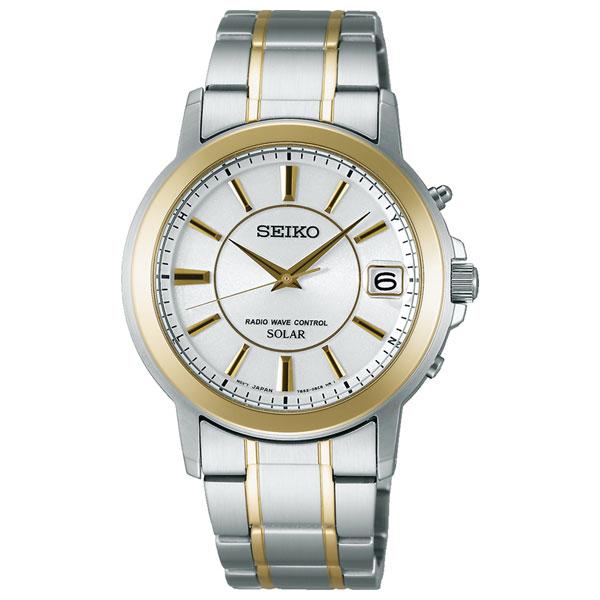 「マラソンポイント5倍」セイコー ソーラー 電波時計 SBTM220 メンズ腕時計 SEIKO 名入れ刻印対応、有料 取り寄せ品