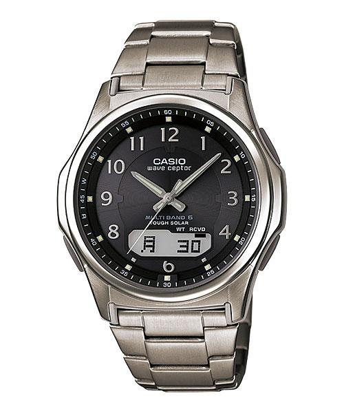 「マラソンポイント5倍」ソーラー 電波時計 メンズ 腕時計 CASIO カシオ ウェーブセプター WVA-M630TDE-1AJF  取り寄せ品 【コンビニ受取対応商品】