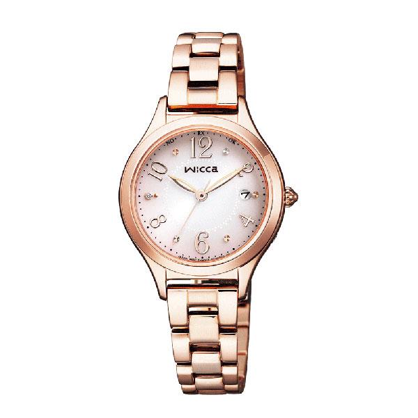 「マラソンポイント5倍」腕時計 レディース シチズン ソーラー電波時計 ウィッカ KS1-261-91 CITIZEN Wicca 取り寄せ品