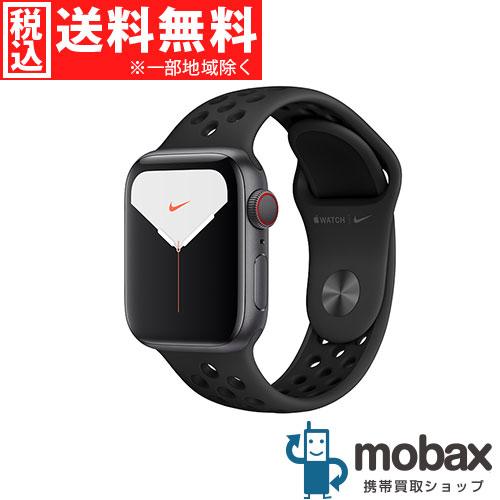 ◆5%還元対象◆【新品未開封品(未使用)】 Apple Watch Nike Series 5 GPS + Cellularモデル 40mm MX3D2J/A [スペースグレイアルミニウムケースとアンスラサイト/ブラックNikeスポーツバンド]