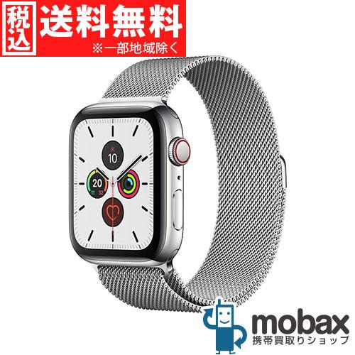 ◆5%還元対象◆【新品未開封品(未使用)】 Apple Watch Series 5 44mm GPS + Cellularモデル MWWG2J/A [ステンレススチールケースとミラネーゼループ] アップルウォッチ