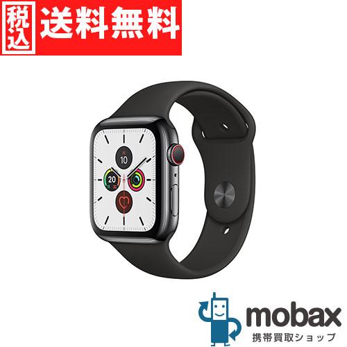 ◆ポイントUP◆【新品未開封品(未使用)】 Apple Watch Series 5 44mm GPS + Cellularモデル MWWK2J/A [スペースブラックステンレススチールケース/ブラックスポーツバンド] アップルウォッチ