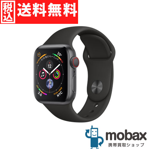 ◆5%還元対象◆【新品未開封品(未使用)】 Apple Watch Series 4 40mm GPS + Cellular MTVD2J/A [スペースグレイアルミニウムケースとブラックスポーツバンド]
