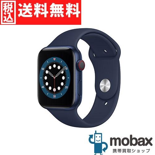 ◆ポイントUP◆【新品未開封品(未使用)】 Apple Watch Series 6 GPS + Cellular 44mm M09A3J/A [ブルーアルミニウムケースとディープネイビースポーツバンド]