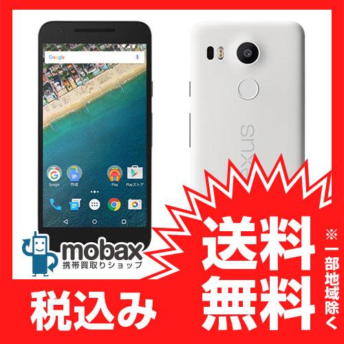 ◆ポイントUP◆※保証書未記入 ※〇判定 【新品未使用】Y!mobile版 Nexus 5x 16GB [クォーツ]ワイモバイル Ymobile 白ロム