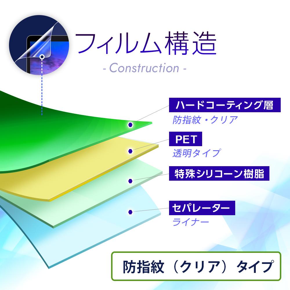 【2枚セット】EAGLE VISION watch4 用 【防指紋 クリアタイプ】 液晶保護フィルム ★