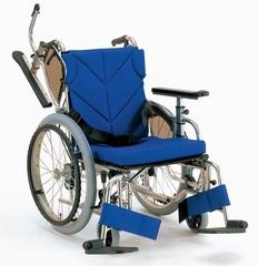 カワムラサイクル 低床型簡易モジュール車いす 自走型KZ20(非課税) [介護用品]