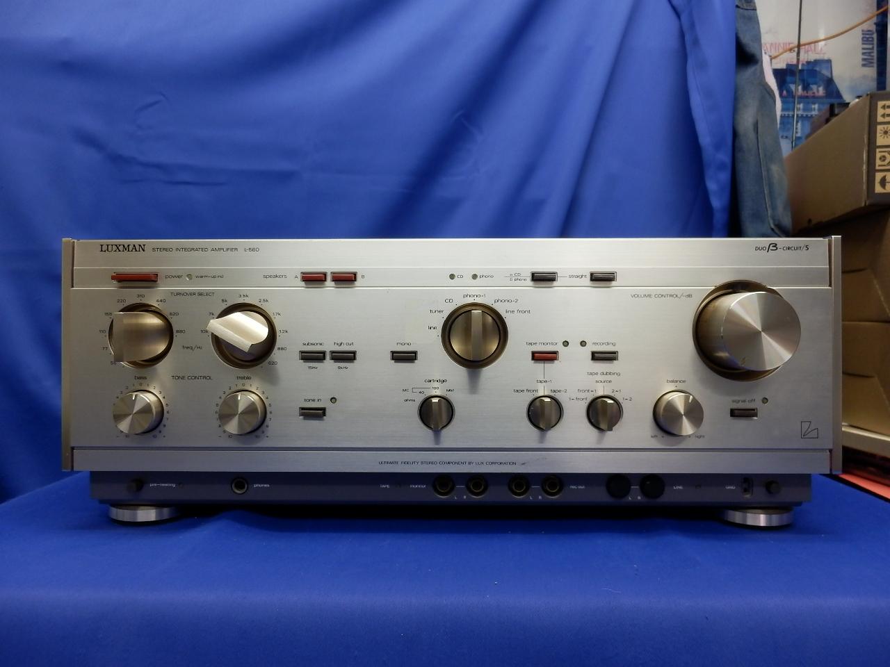 LUXMAN L-560 프리메인안프