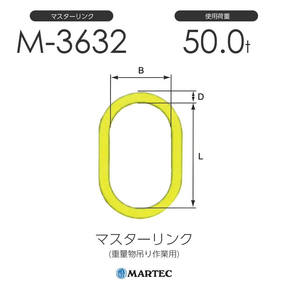 マーテック M3632 マスターリンク M-3632-10 使用荷重50.0t