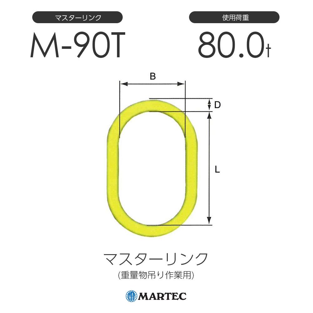マーテック M90T マスターリンク M-90T-10 使用荷重80.0t