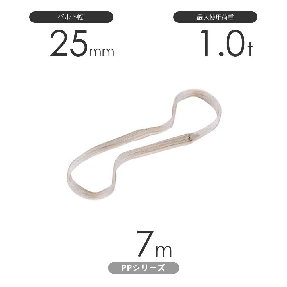 化学薬品用ベルトスリング PPシリーズ エンドレス形(N型)幅25mm×7m 使用荷重:1.0t 丸善織物