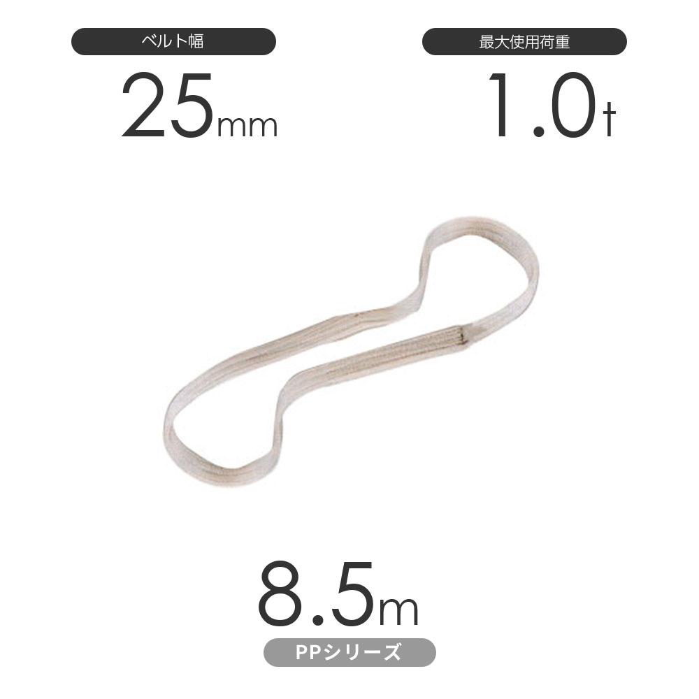 化学薬品用ベルトスリング PPシリーズ エンドレス形(N型)幅25mm×8.5m 使用荷重:1.0t 丸善織物