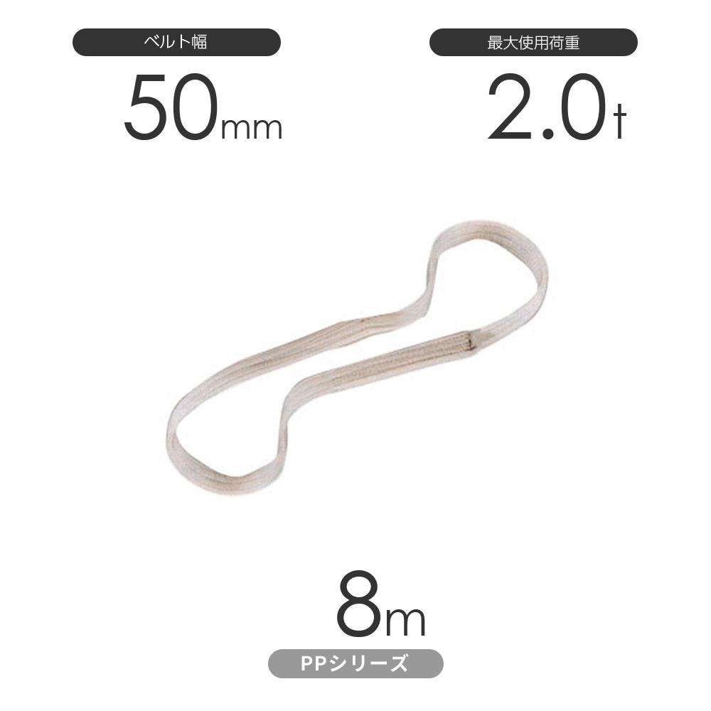 化学薬品用ベルトスリング PPシリーズ エンドレス形(N型)幅50mm×8m 使用荷重:2.0t 丸善織物