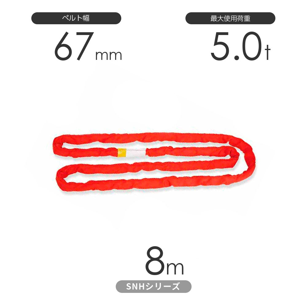 国産ソフトスリングSN-Hシリーズ(縫製タイプ) エンドレス形(N型)5.0t×8m 丸善織物