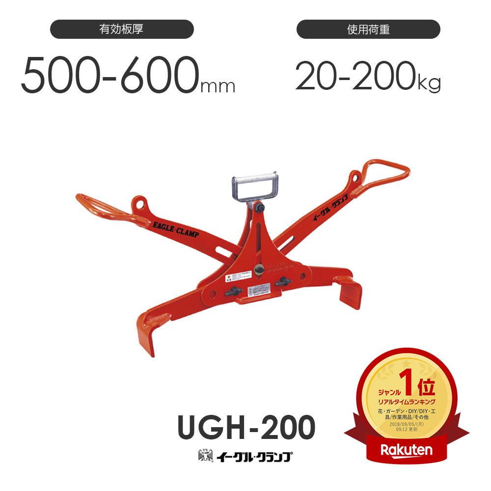 イーグルクランプ U字溝蓋用 UGH-200 開口寸法500・600mm兼用型