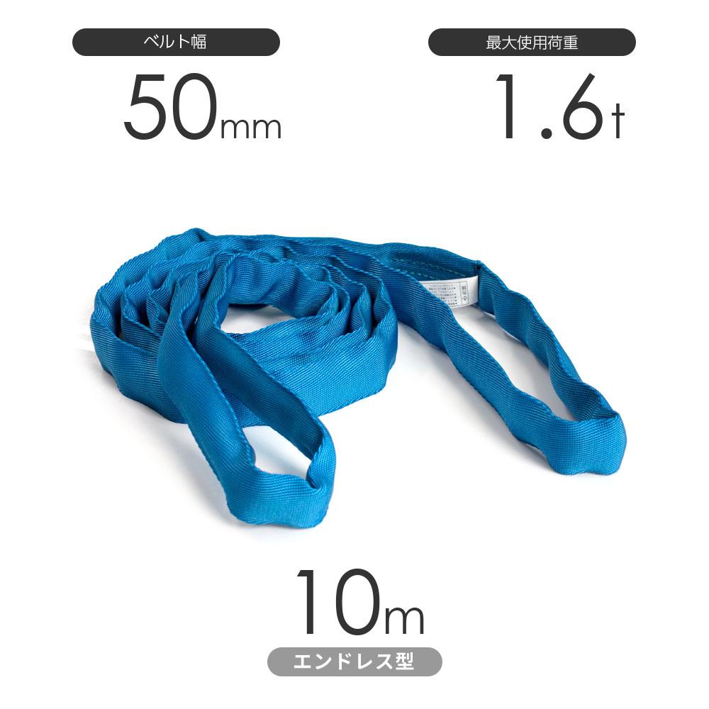 国産ソフトスリング トップスリング エンドレス形(TN型)使用荷重:1.6t×10m 青色