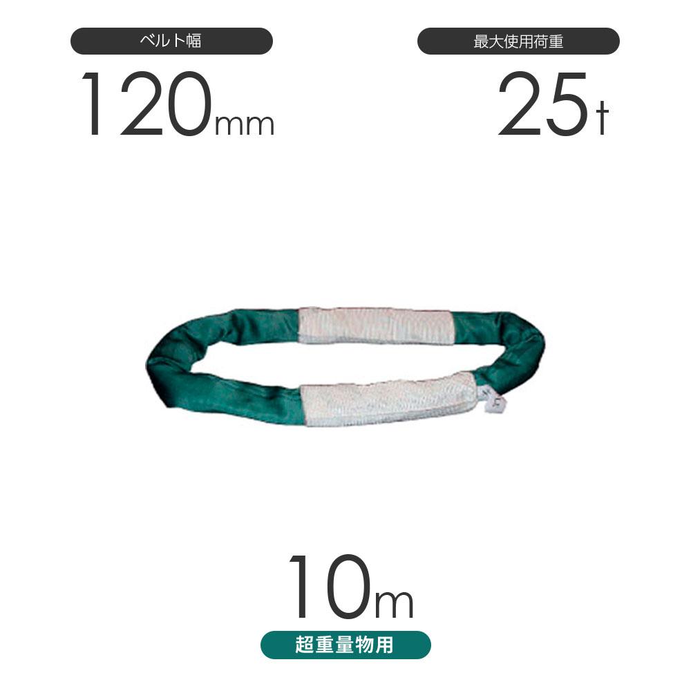 国産 超重量物用ソフトスリング エンドレス形(TTN型)使用荷重:25t×10m