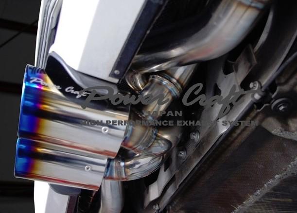 ポルシェ 997 GT3 GT3RSハイブリッドエキゾーストマフラーシステム Titanテールエキゾーストバルブ付Abflug/Power Craft