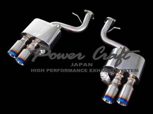 フェラーリ F599ハイブリッドエキゾーストマフラーシステム エキゾーストバルブ付Abflug/Power Craft