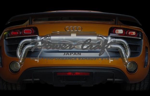 アウディ R8 GT 5.2 V10ハイブリッドエキゾーストマフラーシステム エキゾーストバルブ付Abflug/Power Craft