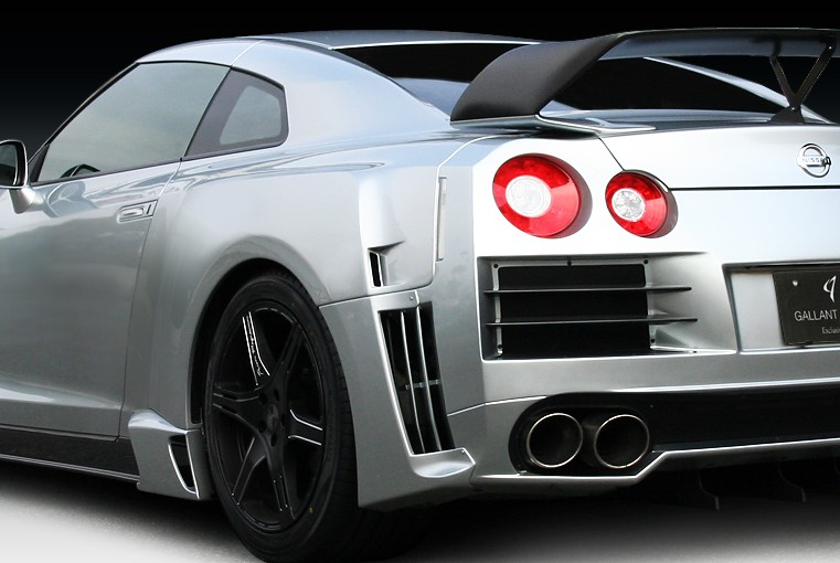 R35 GT-R リアオーバーフェンダーキット Ver.01/GFRPGALLANT ABFLUG