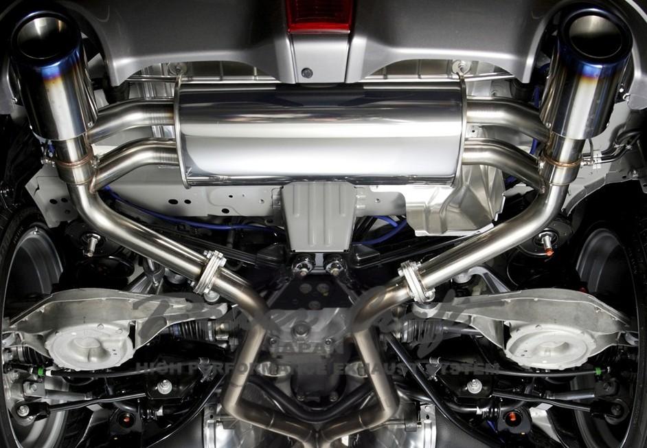 フェアレディZ Z34ハイブリッドエキゾーストマフラーシステム/ツインバルブ エキゾーストバルブ付Abflug/Power Craft