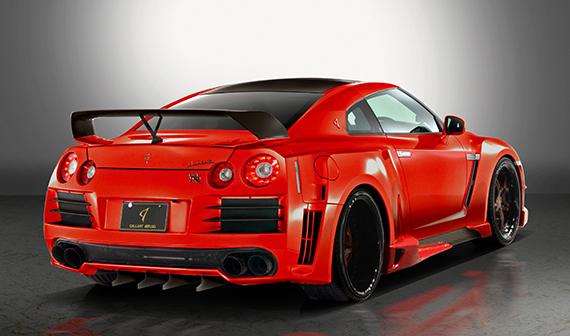 R35 GT-R リアオーバーフェンダーキット ver.02GALLANT ABFLUG