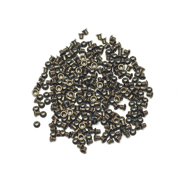 日本製のミニハトメです ミニチュアの革製品を中心にミニハトメは色々使えます レザークラフト 手芸 バッグ作り等のパーツとしてご活用ください ミニハトメ #2×2.5 内径1.6mm 外径3.3mm 300個セット 日本製 アンティークゴールド ゴールド キリンス仕上げ 並行輸入品 手作り ハンドメイド - 素材 パーツ 新品 送料無料 アクセサリー 真鍮無垢 ハンドクラフト 副資材 ミニチュア 金古美