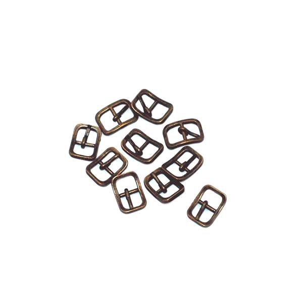 ミニバックル ミニ美錠 5mm Bタイプ アンティークゴールド 10個セット 金具 レザークラフト バーゲンセール ミニチュア 格安 価格でご提供いたします パーツ ハンドクラフト 手作り 副資材 金古美 ハンドメイド 手芸