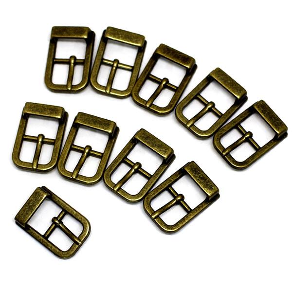 美錠 バックル 15mm アンティークゴールド 捧呈 です 15mm幅の革等を通すのに適したサイズです レザークラフト 手芸 バッグ作り等のパーツとしてご活用ください パーツ 10個セット 日本製 金古美 ハンドクラフト 手作り ハンドメイド 副資材 金具 爆売りセール開催中