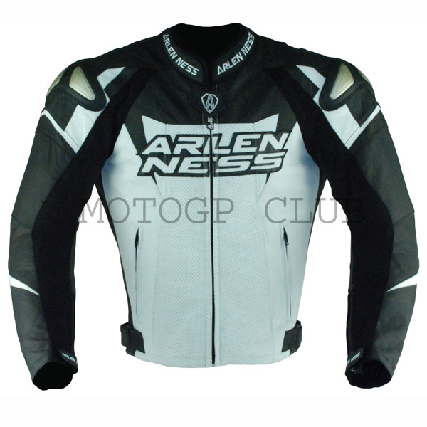 ARLENNESS Allen Ness magnesium kangaroo leather jacket 10634 BLACK/WHITE season