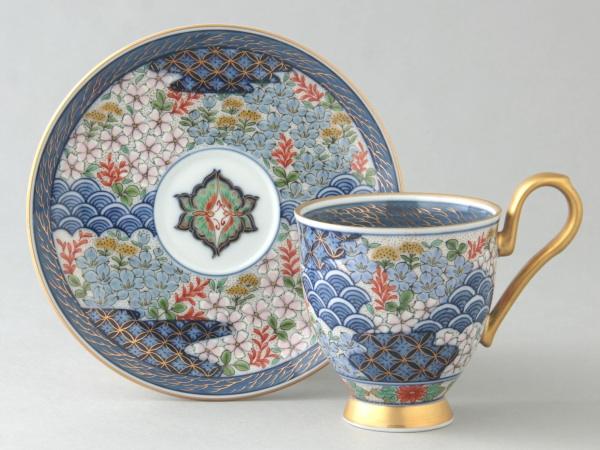 有田焼 嵯峨野 コーヒー碗皿