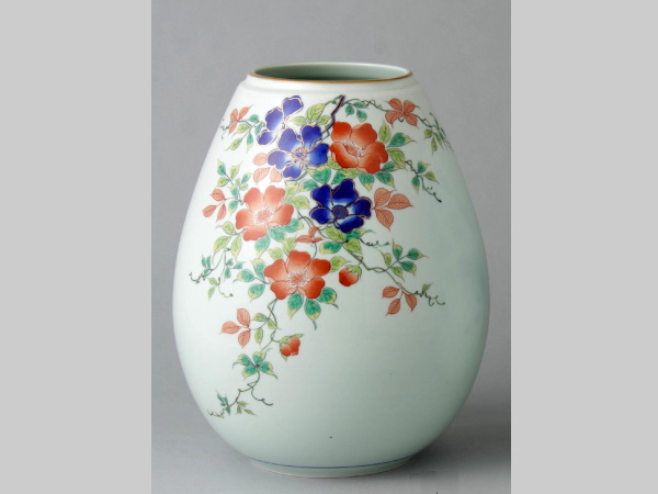 有田焼 野バラ 姫型花瓶