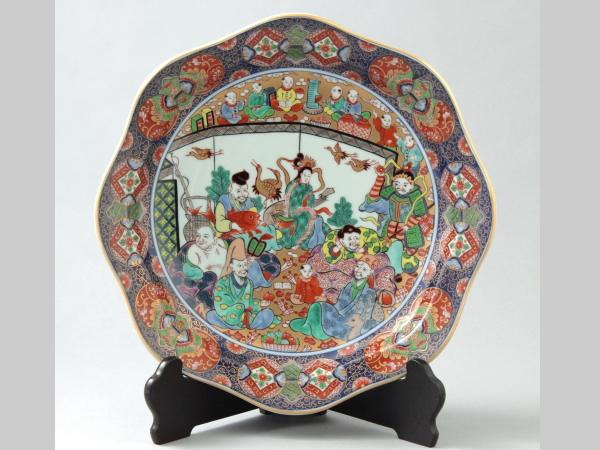 有田焼 七福神 飾皿 31cm