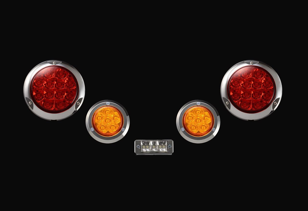 ジムニーに汎用 煌LEDテールキット メッキベゼル 購買 ハイフラ防止リレー L お得なキャンペーンを実施中