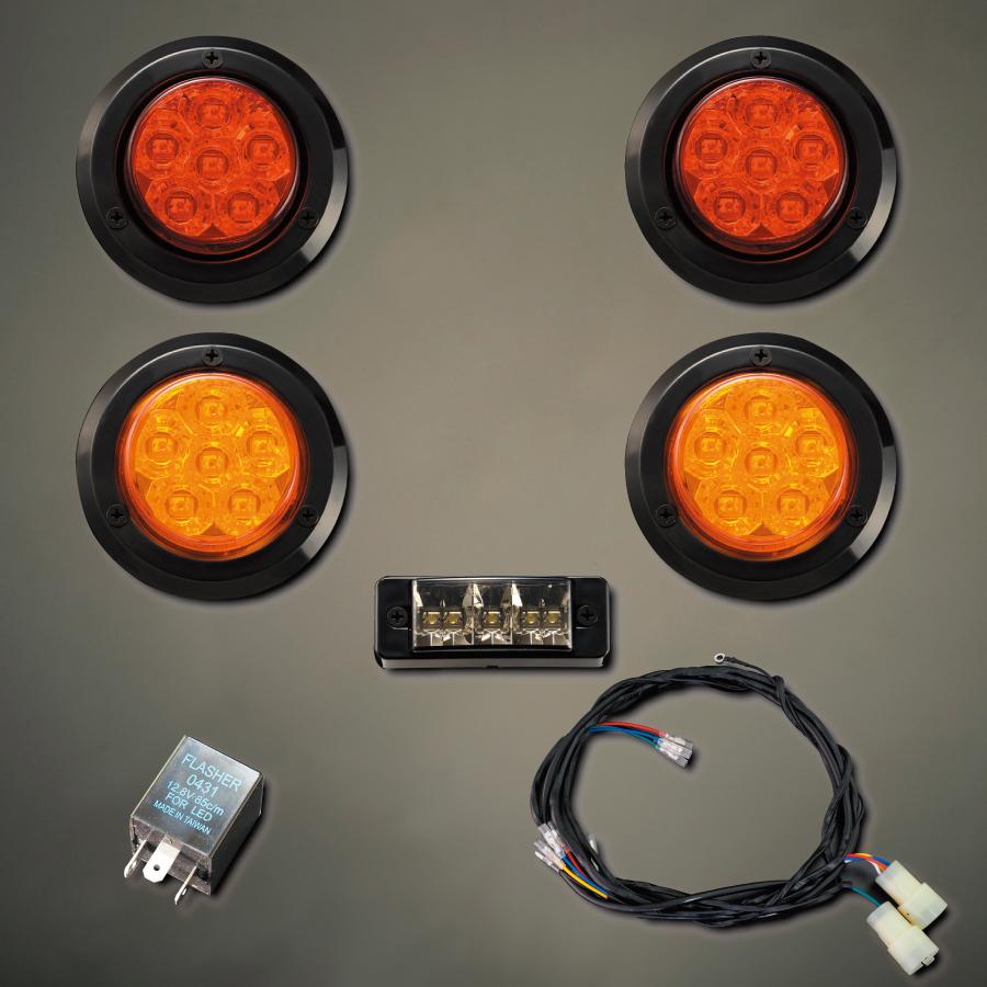 汎用 新品■送料無料■ 煌LEDテールキット S 楽ちんハーネスキットセット ブラックベゼル 全品送料無料 ハイフラ防止リレー3P