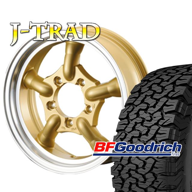 タイヤ ホイール 4本セット ファーム オリジナル J-TRAD DCリム ゴールド 16×5.5J/5H+20 グッドリッチ All-Terrain T/A KO2 225/75R16 ( BFGoodrich オールテレイン )