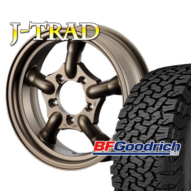 タイヤ ホイール 4本セット ファーム オリジナル J-TRAD マットブロンズ 16×5.5J/5H+20 グッドリッチ All-Terrain T/A KO2 225/75R16 ( BFGoodrich オールテレイン )