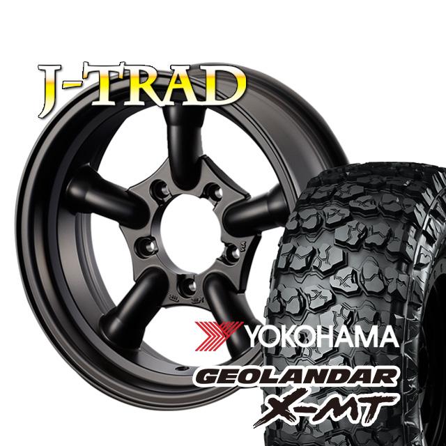 J-TRAD マットブラック 16×5.5J/5H-25 ヨコハマ ジオランダー X-MT G005 7.00R16 ( yokohama geolandar マッドテレイン )