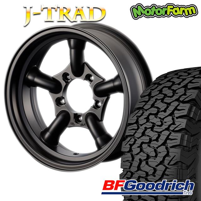 タイヤ ホイール 4本セット ファーム オリジナル J-TRAD マットブラック 16×5.5J/5H-25 グッドリッチ All-Terrain T/A KO2 225/75R16 ( BFGoodrich オールテレイン )