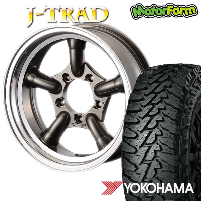 タイヤ ホイール 4本セット ファーム オリジナル J-TRAD DCリム ガンメタリック 16×5.5J/5H-25 ヨコハマ ジオランダー MT G003 225/75R16 ( yokohama geolandar マッドテレイン )